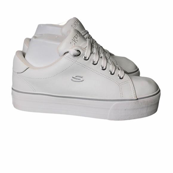 White Leather Platform Sneakers | Poshmark
